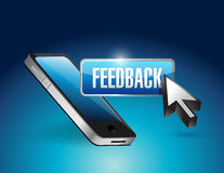 Phone and feedback button illustration Royalty Free Stock Photography