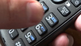 Phone and fingers stock footage