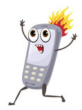 Phone on fire Stock Images