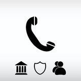 Phone, flat icon, vector illustration. Flat design style Royalty Free Stock Images