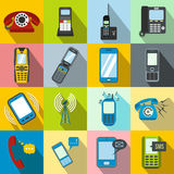 Phone flat icons Royalty Free Stock Photo