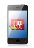 Phone free trial message Stock Photography
