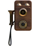 Phone front alpha. Old ancient Phone in top view with alpha Royalty Free Stock Image