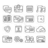 Phone functions icon set Stock Images