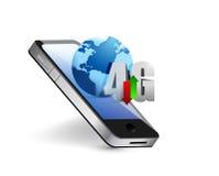 Phone 4g and globe illustration design Royalty Free Stock Photo