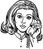 Phone Gal Royalty Free Stock Image