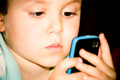 Phone gaming Stock Image
