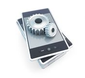 Phone gear construction Royalty Free Stock Image