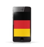 Phone with GERMANY flag illustration design Royalty Free Stock Images