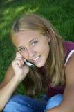Phone Girl stock image