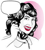 Phone girl Royalty Free Stock Photography