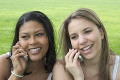Phone Girls Royalty Free Stock Images