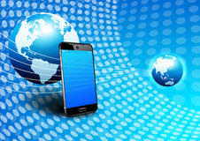 Phone Global Digital Communication World Background Royalty Free Stock Photography