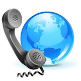 Phone-globe(1).jpg Royalty Free Stock Photos