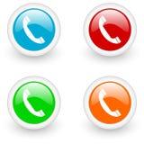 Phone glossy icon Stock Photos