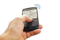Phone with GPS Stock Photography