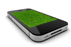 Phone with grass Stock Photos
