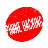Phone Hacking rubber stamp Royalty Free Stock Photo