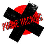 Phone Hacking rubber stamp Stock Photos