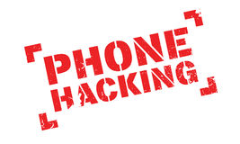 Phone Hacking rubber stamp Royalty Free Stock Images