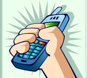 Phone in hand. Vector illustration of a phone in hand royalty free illustration