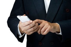 Phone in Hand Stock Photos