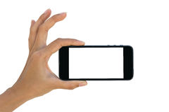 Phone in hand Royalty Free Stock Photography