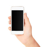 Phone in hand Royalty Free Stock Images