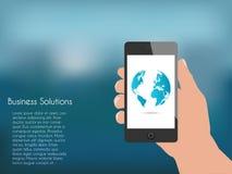Phone Hand Illustration Stock Image