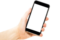 Phone in hand Stock Photo