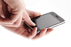 Phone in the hands Royalty Free Stock Photo