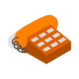 Phone handset icon, isometric 3d style Royalty Free Stock Image