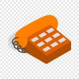Phone handset isometric icon Stock Image