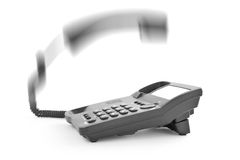 Phone handset lifted upwards Royalty Free Stock Photos