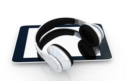 Phone and headphones Royalty Free Stock Photography
