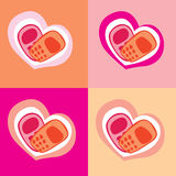 Phone heart. Congratulations on the phone. Valentine's Day. heart Stock Photography