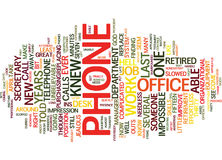 The Phone From Hell Text Background  Word Cloud Concept Stock Photography
