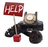 Phone of help Royalty Free Stock Photo