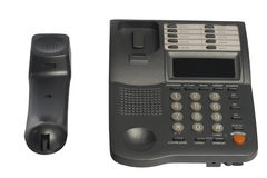 Phone home dark gray Stock Images
