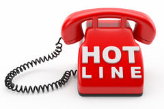 Phone hot line concept Royalty Free Stock Images