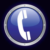 Phone Icon. Vector illustration of a phone icon Royalty Free Stock Photos