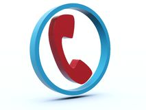 Phone icon. From blue and red series stock illustration