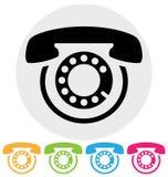 Phone icon. Isolated on white Stock Image