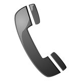 Phone icon. Glossy illustration with a telephone handset icon Stock Photo