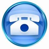 Phone icon blue Stock Photo