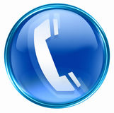 Phone icon blue Stock Photos