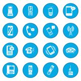 Phone icon blue Royalty Free Stock Photos