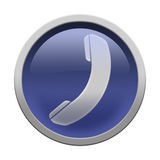 Phone icon button Royalty Free Stock Image