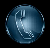 Phone icon dark blue. Royalty Free Stock Image