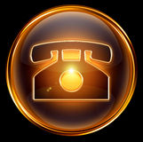 Phone icon gold Royalty Free Stock Image